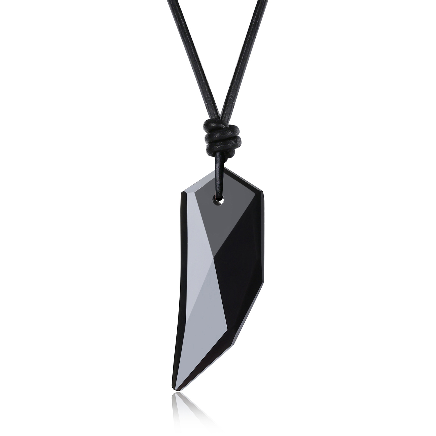 collier homme cuir dent